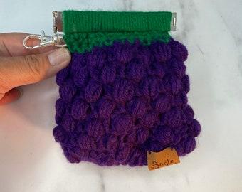 Crochet Grape & Watermelon slice Cases | Crochet Pouch | Keychain Pouch | Case | Yarn Stitch cover