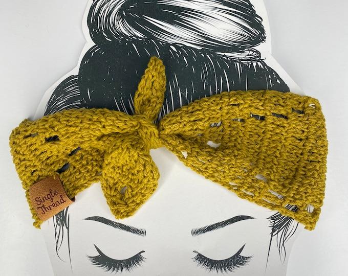 Featured listing image: Crochet Headband | Headwrap | Hair Accessory | Cotton thread