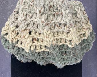 Two Crochet Cowl Scarf | Neckwear | Handmade Scarf | Neck warmer | Cowl scarf with Specs| Chunky Cowl