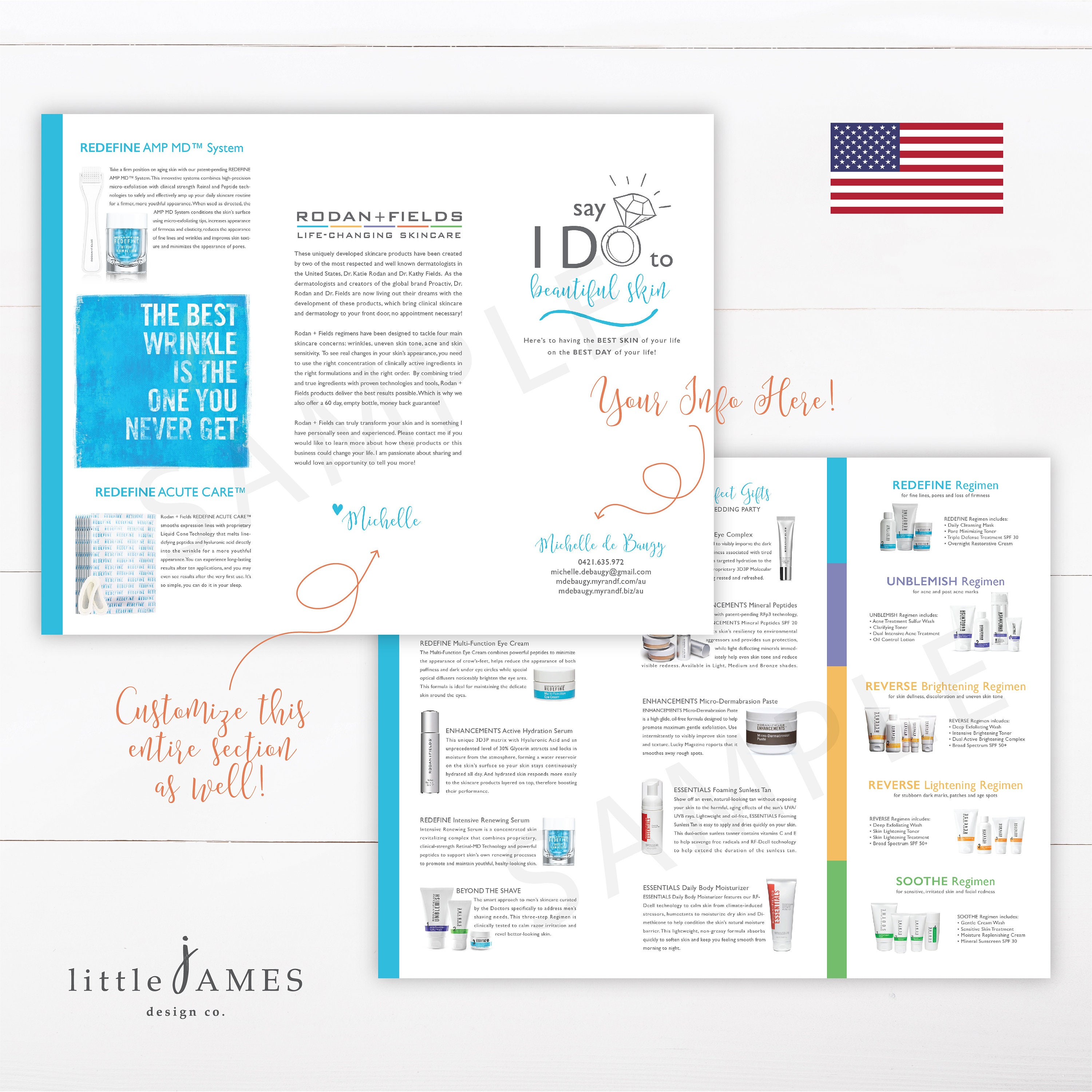 Wedding Expo Rodan and Fields Trifold Product Brochure (USA) - Rodan and  Fields Bride / Wedding Expo / Product Brochure