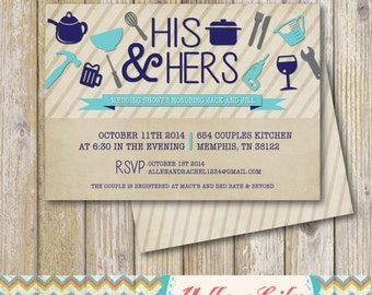 His and Hers Couples Shower Invitation - DIY Party Printable  / Couples Shower / Wedding Shower