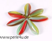 5x16 mm Dagger-Bead - green red  (5x16/9971)