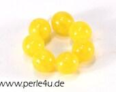 6 mm Czech Pressed Glass Bead -round- yellow