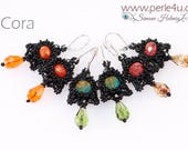 "DIY-MATERIAL-KIT - Earrings ""Cora"" black (K0099)"