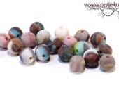 6 mm Czech Pressed Glass Bead -round- colored matte