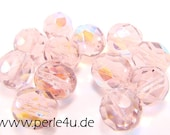 8 mm Czech Faceted Glass Bead -round- light amethyst AB - 8/7033