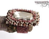 "DIY-MATERIAL-KIT - Ring ""Carre Maximus"" grey-wine (K0058)"