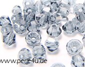 3mm Czech Faceted Crystal Bead - Bicone - montana 3b/3009