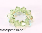4mm Czech Faceted Crystal Bead - Bicone - olivine AB