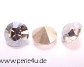 5 pcs. - 8mm Swarovski Xilion Chaton/Dentelle, 1128 - crystal silver shade