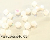 3mm Czech Faceted Crystal Bead - Bicone - opal AB 3b/1061
