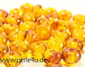 3x5mm Czech Faceted Glass Bead - Donut/Rondelle - fire opal