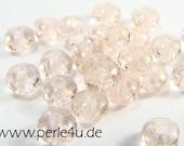 2x3mm Czech Faceted Glass Bead - Donut/Rondelle - light rose