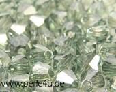 4mm Czech Faceted Crystal Bead - Bicone - prairie green | 4b/2067