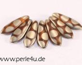 5x16 mm Dagger-Bead - hyacinth matte copper (5x16/8100)
