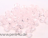 3mm Czech Faceted Crystal Bead - Bicone - light rose 3b/6005