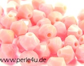 4mm Czech Faceted Crystal Bead - Bicone - pinkopaque | 4b/6108