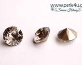 5 pcs. - 8mm Swarovski Xilion Chaton/Dentelle, 1128 - crystal silver patina