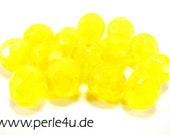 8 mm Czech Faceted Glass Bead -round- yellow - 8/8048