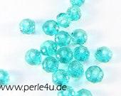 3x5mm Czech Faceted Glass Bead - Donut/Rondelle - aqua