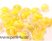 3x5mm Czech Faceted Glass Bead - Donut/Rondelle - yellow mix
