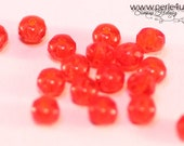 3x5mm Czech Faceted Glass Bead - Donut/Rondelle