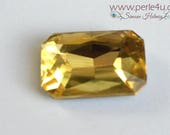 25x18mm crystal rectangle - yellow