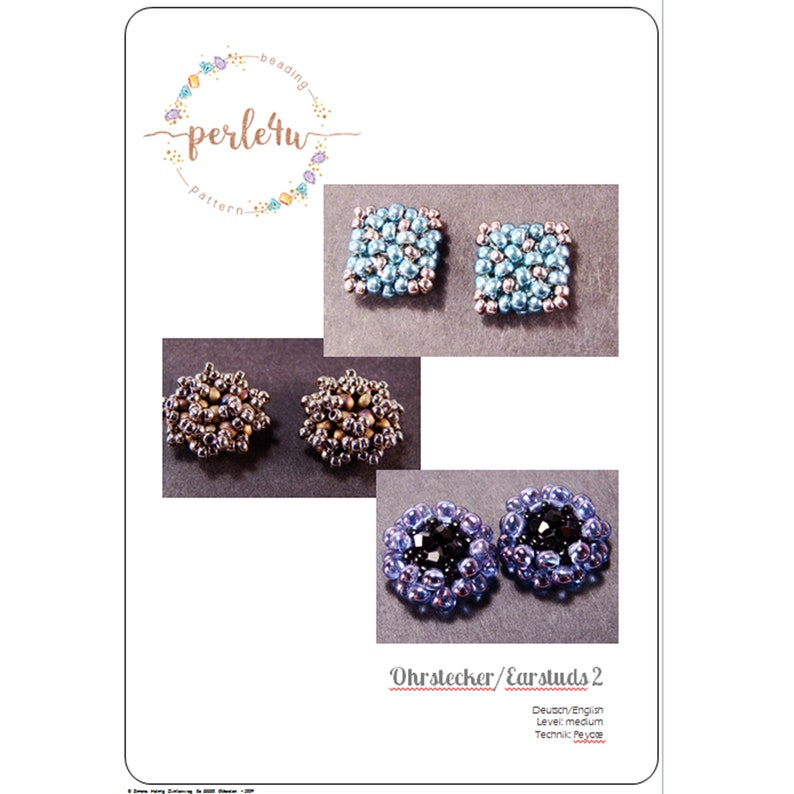 Beading pattern Earstuds 2  Ohrstecker 2 image 0