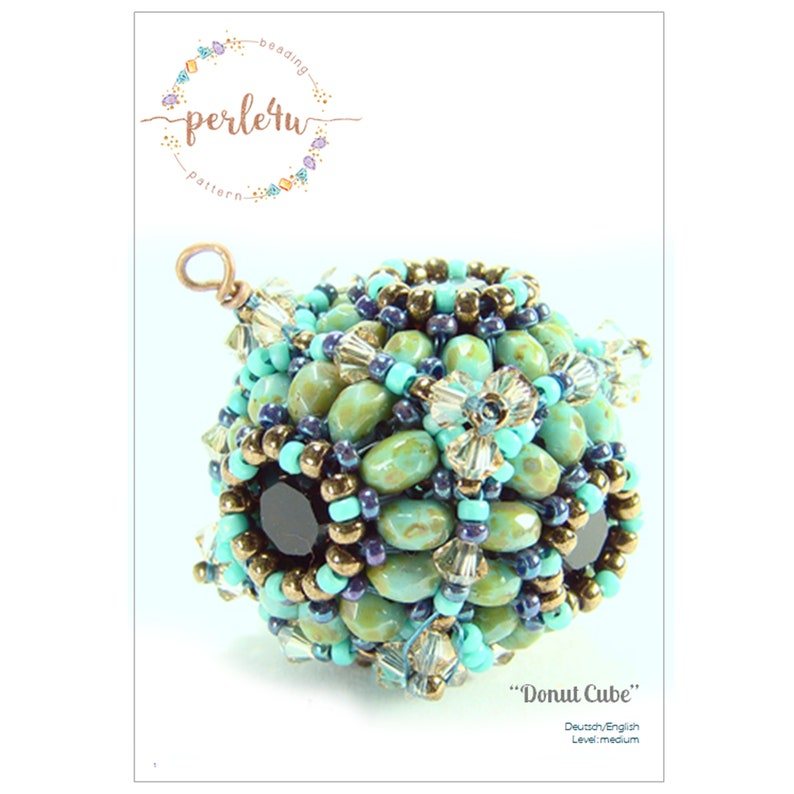 Ebook  Beaded Bead DONUT CUBE  pdf pattern image 0