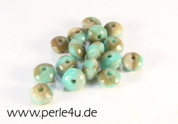 dark topaz DonutRondelle 3x5mm Czech Facetted Glass Bead