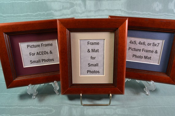 Cherry Picture Frames Set Of 3 Photo Frames 4x5 4x6 Or 5x7 Etsy