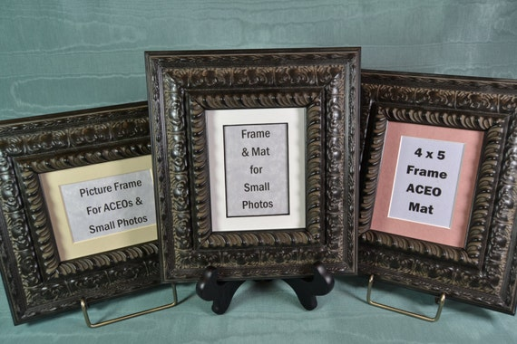 Picture Frames Set Of 3 Black Cherry Ornate Photo Frames Etsy