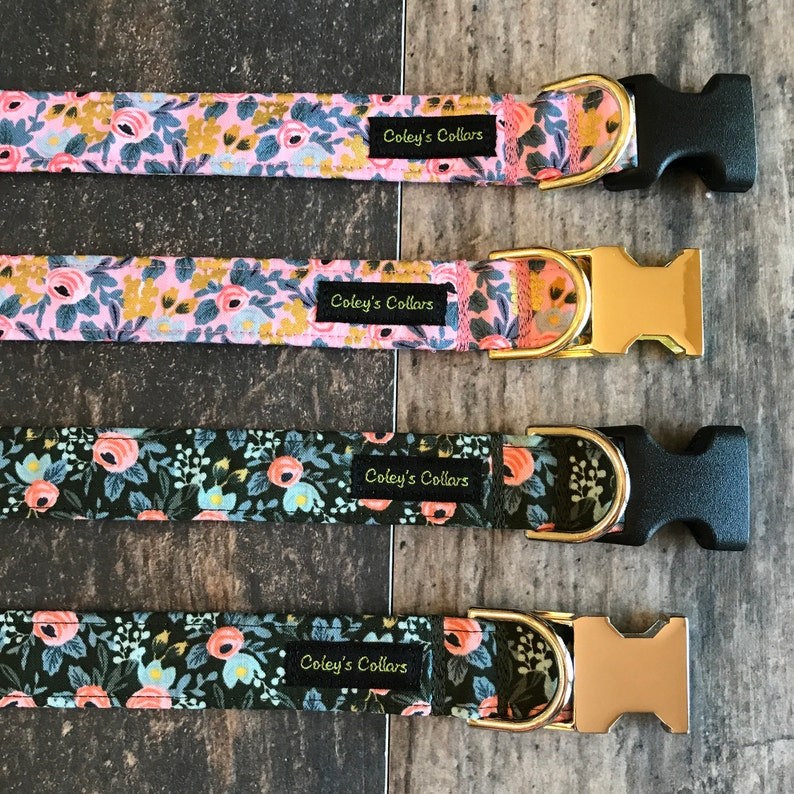 Dog Collar Rifle Paper Co Dog Collar Dog Collars Floral Dog image 0