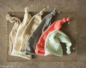 Organic Baby Hat, Baby Boy Hat, Beanie, Gray, Cream Hat, Cotton Hat, Natural Props, Baby Photo, Newborn Props, Baby Props, Wizard Hat, RTS