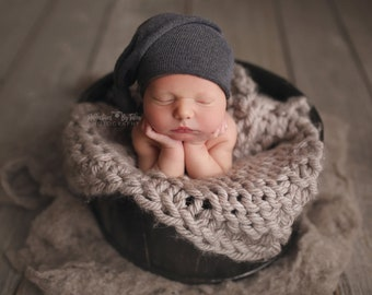 Baby Gray Hat, Baby Boy Hat, Beanie, Natural Props, Baby Photo Prop, Newborn Props, Baby Props, Wizard Hat, Wizards Hat RTS