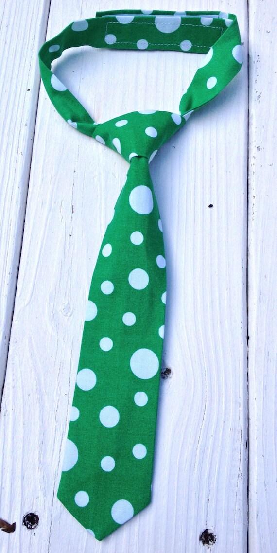 72c01986de40 Boys Polka Dot Neck Tie Boys Green Tie 1st Birthday Boy