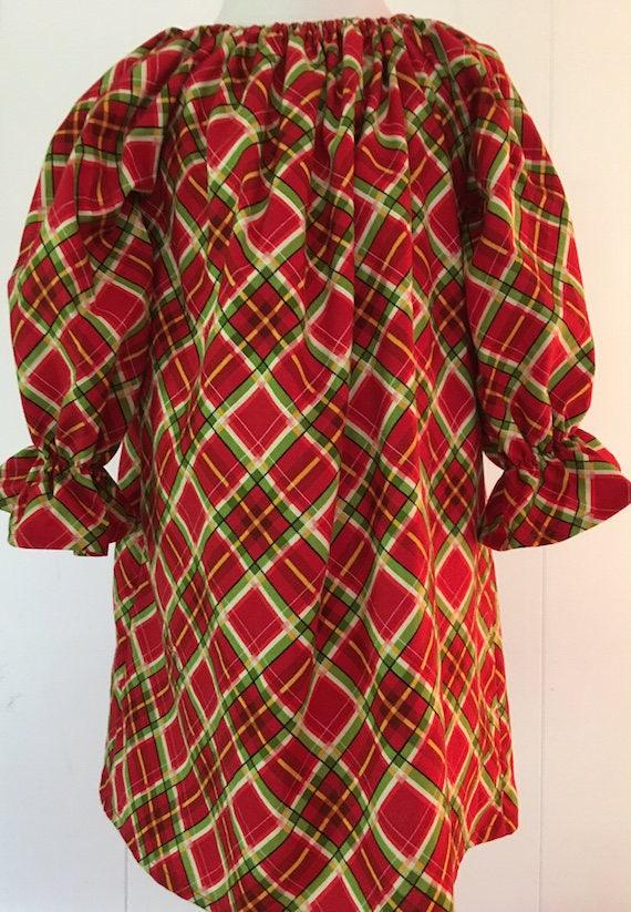 girls plaid christmas dress girls holiday dress peasant etsy - Girls Plaid Christmas Dress
