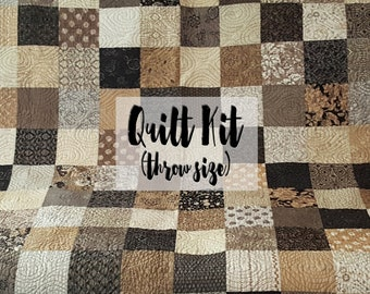 Quilt Kit for Throw Size Quilt in Little Black Dress & Maven Prints by BasicGrey