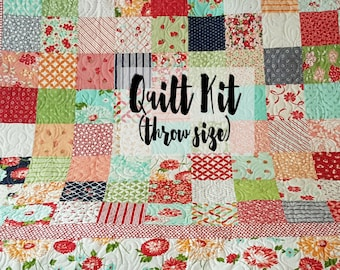 Quilt Kit for Throw Size Quilt in Prints by Bonnie & Camille