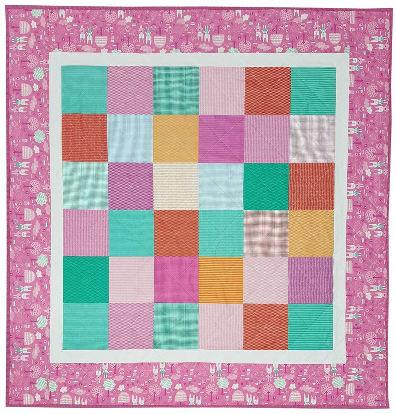 Quilt Kit for Infant-Toddler Quilt in Spring Bunny Fun by Stacy Iest Hsu for Moda