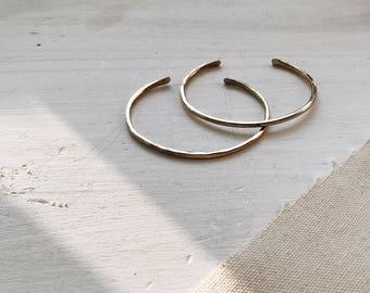 Minimalist Brass Stacker   Hammered Stacking Bracelet   Simple Gold Cuff