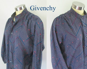 Givenchy Vintage 1970s Abstract Shirt Blouse