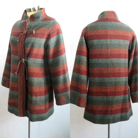 Mod Hippie Mini Coat Jacket 1960s 1970s Braetan