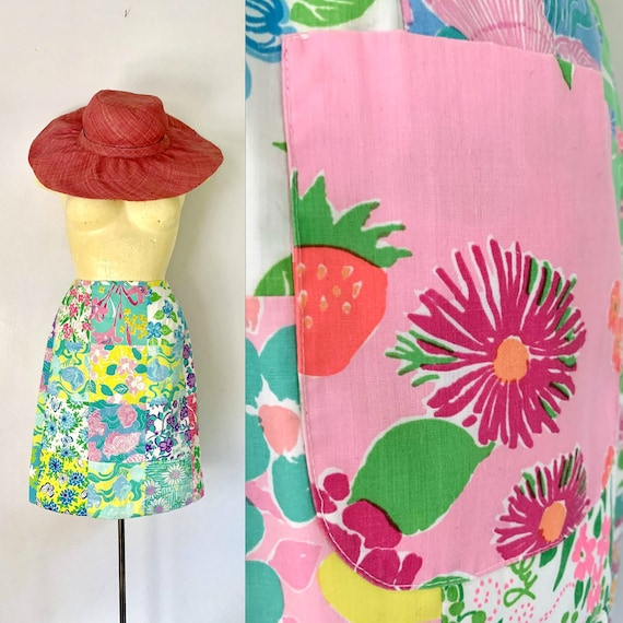 1960s Lilly Pulitzer Cotton Patchwork Skirt