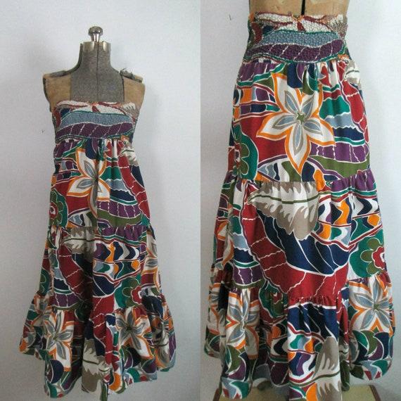 Sundress Beach Skirt Coverup Vintage Gabar - image 2