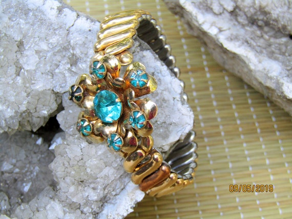 Antique Gold Filled Bracelet, EXPANSION BRACELET,… - image 5