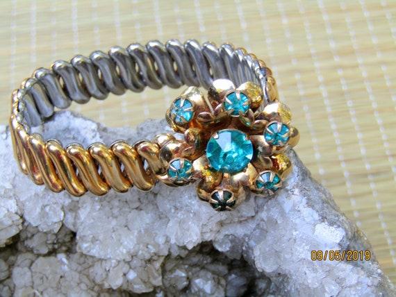 Antique Gold Filled Bracelet, EXPANSION BRACELET,… - image 2