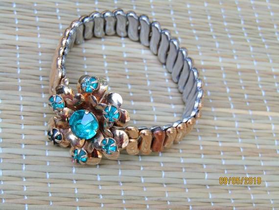 Antique Gold Filled Bracelet, EXPANSION BRACELET,… - image 1