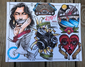 After Laughter flash sheet 11x14 print | Etsy