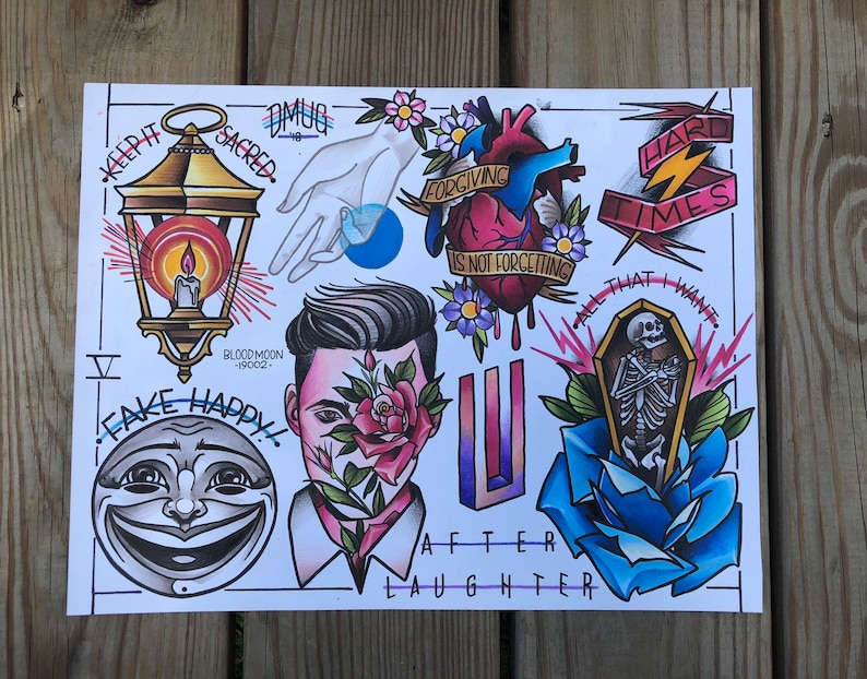 After Laughter flash sheet- 11x14